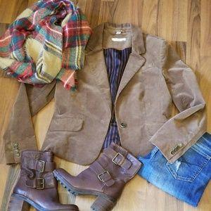 {LOFT} Brown Velvet Blazer